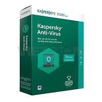 Phần mềm diệt Virus Kaspersky Antivirus -3pc (kav 3u)
