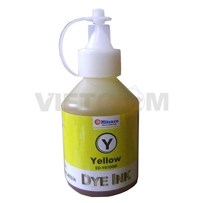 Mực Dye 100lm for máy in Epson T60/1390/230/290 (Yellow)