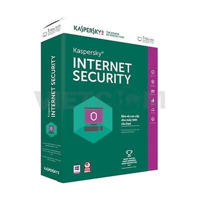 Phần mềm diệt Virus Kaspersky Internet Security - 1pc (Kis 1u)